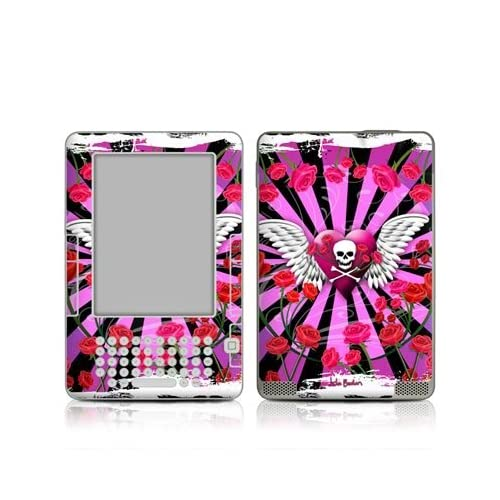 Skull & Roses Pink Design Protective Decal Skin Sticker for  Kindle 2 E Book Reader (2nd Gen)