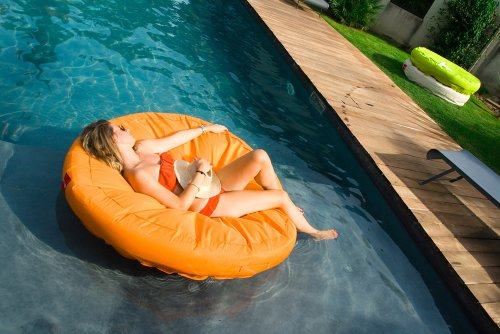 Sunsoft Fabric Covered Lounger for Pool or Deck