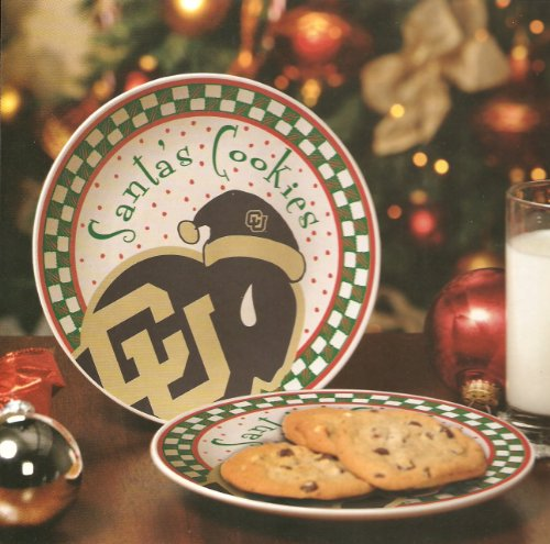 University Of Colorado Santa'S Cookie Plate