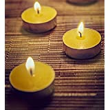 Orlando's Decor Candles Yellow T Light Candles Set Of 50 T-lights
