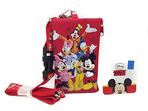 Disney Lanyard & ID Holders with Coin Purse (Red Friends)