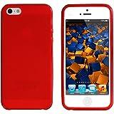 mumbi TPU Silikon Schutzhülle iPhone 5 5S Hülle transparent rot