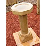 Garden Bird Bath Feeder - Lancashire Natural Sandstone Stone Birdbath