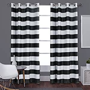 Turquoize Nautical Blackout Curtains 2 Panels Grommet Top Block 85 Light Out