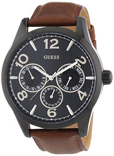 Guess  - Reloj Analógico de Cuarzo para Hombre, correa de Cuero color Marrón