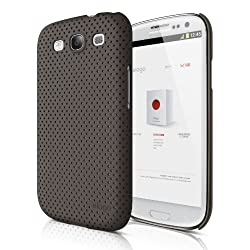 elago G5 Breathe Case for Galaxy S3 (Fits Verizon, AT&T, T-Mobile, Sprint and other Carriers) - Soft Feeling Chocolate + HD Professional film