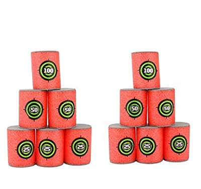 Lovingmei 12 Pcs EVA Sponge Soft Bullets Target for NERF N-Strike Blasters Dart Foam Gun Target Kids Toy Bullet Target For Shooting by Lovingmei that we recomend personally.