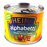Heinz Alphabetti Pasta Shapes Smaller Size 200g