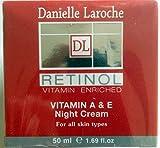 Danielle Laroche Retinol Vitamin A & E Night Cream 1.69 Fl Oz