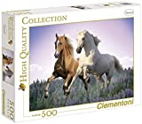 Clementoni 30287.1 Jigsaw Puzzle 500 Pieces Free Horses