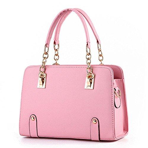 koson-man-damen-pu-leder-vintage-beauty-modische-tote-taschen-top-griff-handtasche-rose-pink-kmukhb0