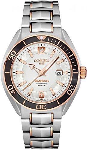 Roamer Searock Pro Mens Wrist Watch Analog date stainless Steel Band 211633SRGM1