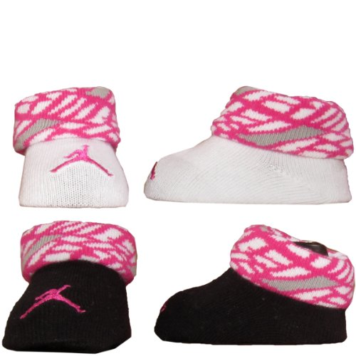 Nike Jordan Baby Booties Newborn Infant Socks Size 0-6 M Great Baby Gift Set Pink White Gray