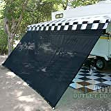 Black RV Awning Shade Net 10' X 16' Sun Shade Canopy Shelter