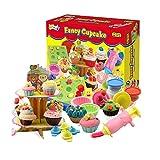 Wishtime ケーキ屋さんセット 5色入 こむぎねんど おもちゃ 粘土 幼児 子ども ままごとセット 知育玩具