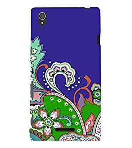 printtech Floral Pattern Back Case Cover for Sony Xperia T3