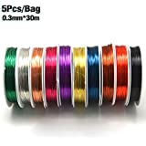 Generic 5pcs Copper : MNFT 5 Pcs/lot Fly Tying Copper Wire 0.3mm*30m Line For Larve Nymph Flying Tying Material Fly Fishing Lure Stone Fly Bugs