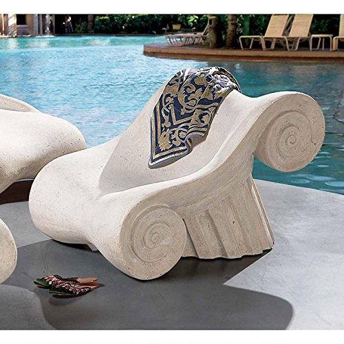 Design Toscano NE90025 Hadrian's Villa Roman Spa Furniture Collection: Master's Chair picture