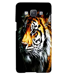 ColourCraft Tiger Look Design Back Case Cover for SAMSUNG GALAXY A7