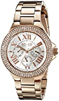 SO&CO York Women's 5019.4 Madison Analog Display Quartz Rose Gold Watch by SO&CO MFG