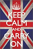 Poster Keep Calm and Carry On - Union Jack - reasonably priced poster, XXL wall poster