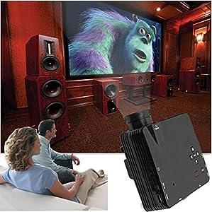 Mini Shop® 1080P LED Protable Projector HD PC AV VGA USB HDMI(Black) by Mini shop