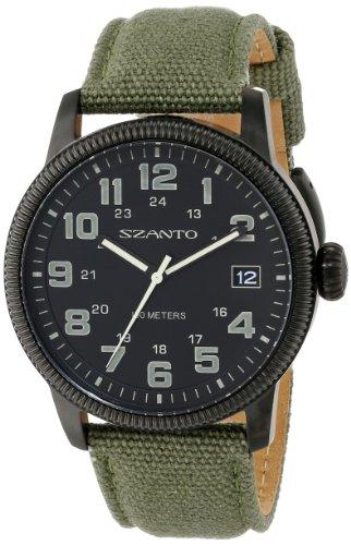 Szanto Men'S Sz 1101 1100 Series Vintage Inspired Military Field Watch front-605730