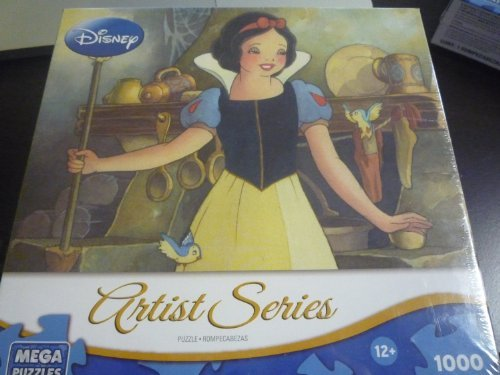 Mega Puzzles, Disney Artist Series, Portrait of Innocence [Snow White and the Seven Dwarfs], 1,000 Pieces - 1