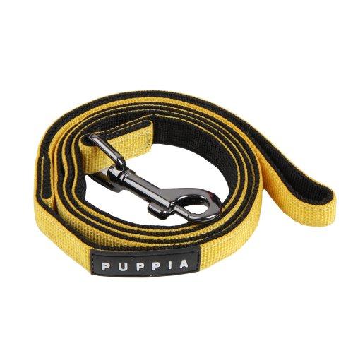 Authentic Puppia Two Tone Lead, Yellow, Medium