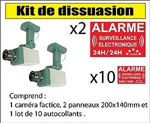 Kit double caméra de vidéo surveillance de dissuasion