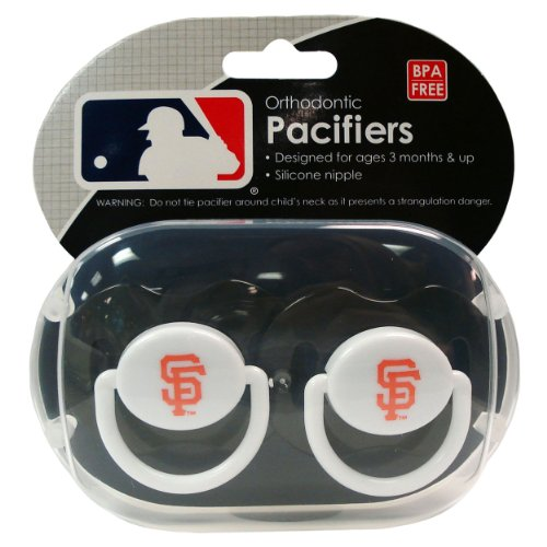 MLB San Francisco Giants Pacifiers, 2-Pack at Amazon.com