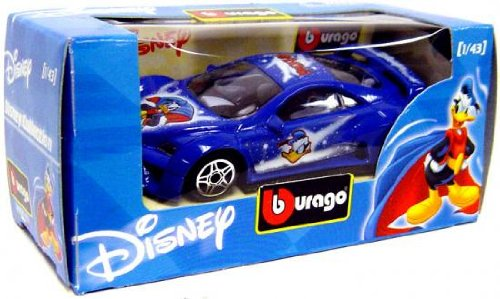 Disney Burago 1/43 Scale Diecast Car Donald Duck [Blue Paint Job] - 1