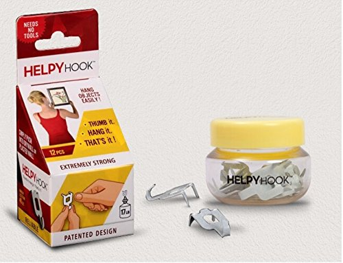 Helpy Hook - helps hang easily onto a drywall (gypsum / softboard partition) without any damage!