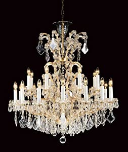 Huge Gold Chandelier Light with Preciosa Leaded Crystal Trimmings – HP023987 :: Top Price
