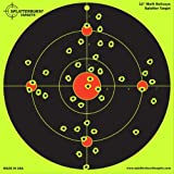 "50 Pack - 12"" Multi Bullseye Splatterburst Target - Instantly See Your Shots Burst Bright Florescent Yellow Upon Impact!"