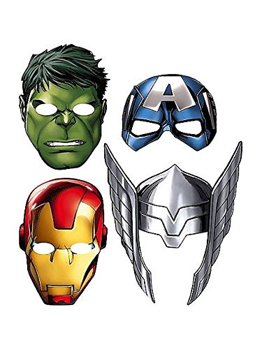 Avengers 'Assemble' Paper Masks (8ct) (Paper Mask Party compare prices)