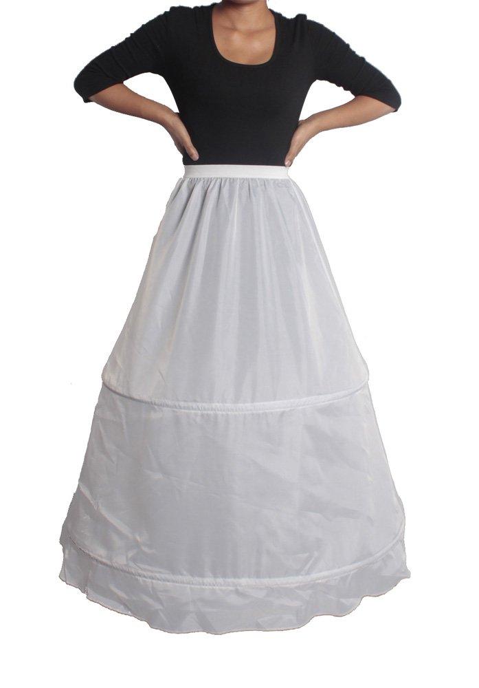 XYX FRAUEN WEDDING PetticoatUnderskirt Slip Krinoline 2 HOOP WEISS XS-M kaufen