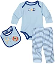 Babyworks Baby-Boys Newborn Sports Creeper Bib And Pant Set
