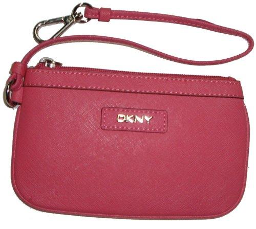DKNYDKNY Women's Saffiano Leather Change Purse Wristlet, Coral