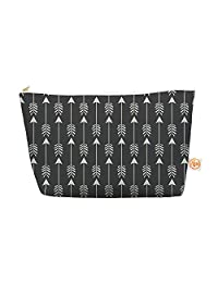 """Kess In House Everything Bag Tapered Pouch By Amanda Lane """"Tribal Arrows Dark Gray"""", 12.5 X 7 Inches (Al1026 Aep04)"""