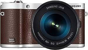 Samsung NX300M kompakte Systemkamera (20,3 Megapixel, 2-fach opt. Zoom, 8,4 cm (3,3 Zoll) Touchscreen) inkl. 18-55 mm OIS i-Function Objektiv braun