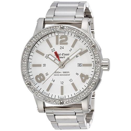 [エンジェルクローバー]Angel Clover 【300本限定】腕時計 エクスベンチャーGMT ホワイト文字盤 スワロフスキー 200m防水 EVG46WHZ-LIMITED メンズ