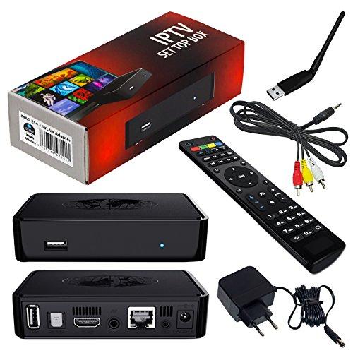 MAG 254 Original IPTV SET TOP BOX Multimedia Player Internet TV IP Receiver + HB Digital Wlan WIFI Stick