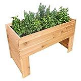 "Greenes Fence Cedar Elevated Garden Bed, 47"" x 24"" x 30"""