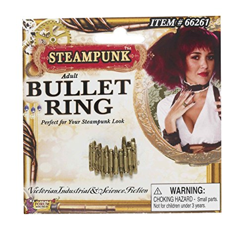 Steampunk Bullet Ring Antique Look Industrial Victorian Jewelry Costume Prop New