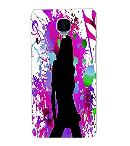 ONE PLUS THREE MUSIC GIRL Back Cover by PRINTSWAG