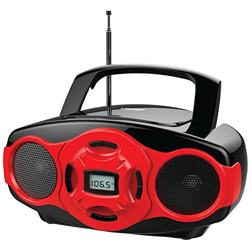 NAXA Electronics Portable MP3/CD Boombox and USB Player (Red)