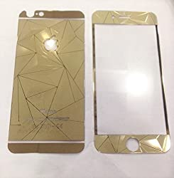 ShopAIS 3D Diamond Tempered Glass For Iphone 6 GOLD - Front + Back Tempered Glass - We offer a Transperent Utra-Thin Back Cover worth Rs 199 Free with all orders
