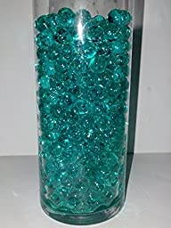 1 Ounce Package of Water Crystals Deco Beads - Create Your Own Scented Candles or Fragrant Diffuser (Totally Teal)