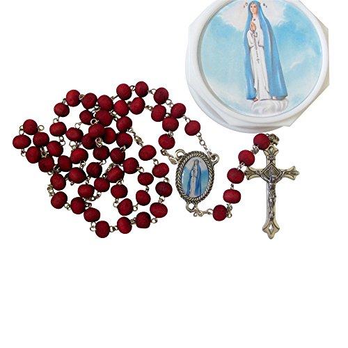 Bendecido Por Su Santidad Francisco La Virgen Del Rosario Del Pozo Rosario Hecho De Petalos De Rosa